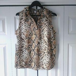 🌸3/$30🌸 Another Story animal print blouse Sz. XL